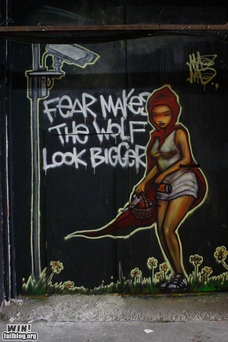 big brother graffiti political Protest red riding hood Street Art tag - 5416237568