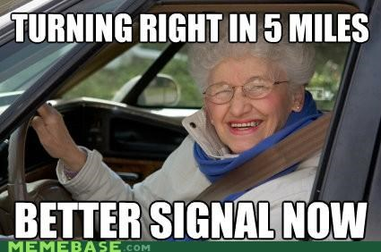 driving,Memes,miles,old,signal
