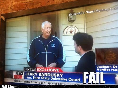 inappropriate ironic Jerry Sandusky peen joke penn state scandal sports typo - 5416509440
