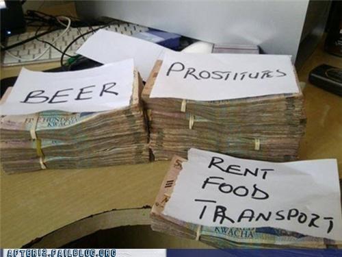 beer budget cash drinking floozy harlot money necessities priorities strumpet tart trollop wenches - 5416642048