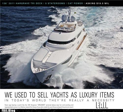99 percent,luxury,on a boat,overkill