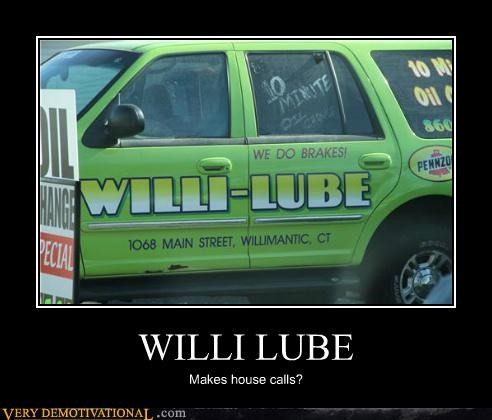 car hilarious house calls willi lube wtf - 5417081600