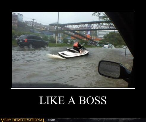 car,flood,hilarious,jet ski,Like a Boss