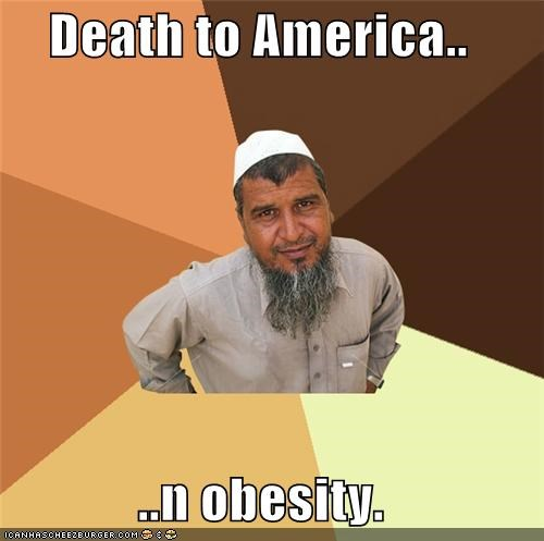 america Death fat obesity Ordinary Muslim Man - 5417678848