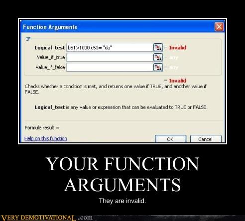 arguments hard hilarious invalid programming - 5417809408