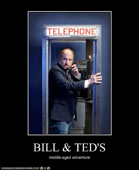 adventures,bill-and-teds-excellent,louis c.k,middle aged,phone booth