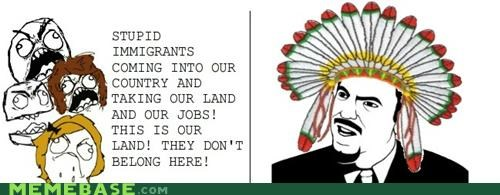 immigrants,native americans,Rage Comics,thanksgiving