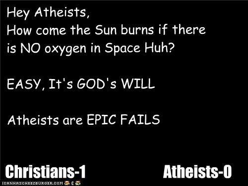 Hey yo Atheists, beta Hid yo Kidz