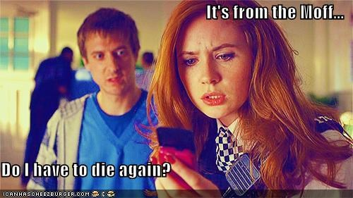 amy pond,arthur darvill,die,doctor who,karen gillan,rory williams,Steven Moffat,writer