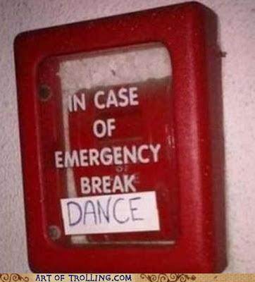 break dance break glass IRL sign - 5418087424