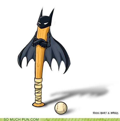 baseball,baseball bat,bat,batman,double meaning,literalism,man,prefix