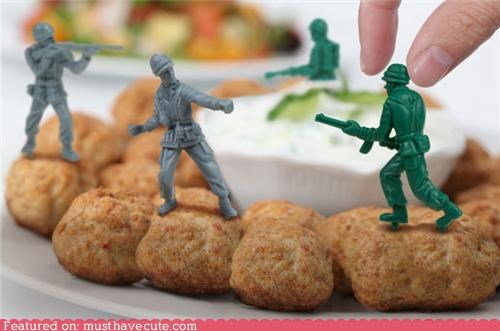 army men,finger food,Party,picks,plastic