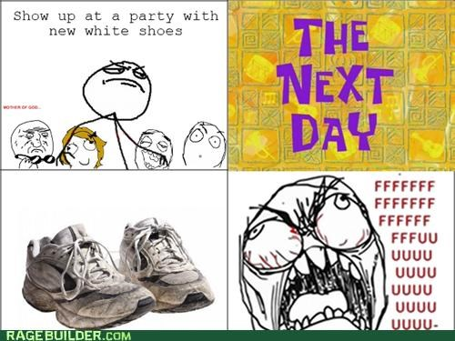 gross Party Rage Comics shoes - 5418428928