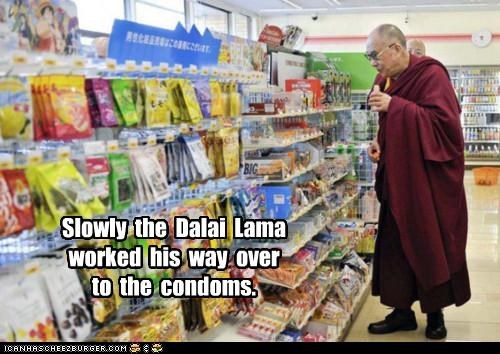 condoms,Dalai Lama,political pictures