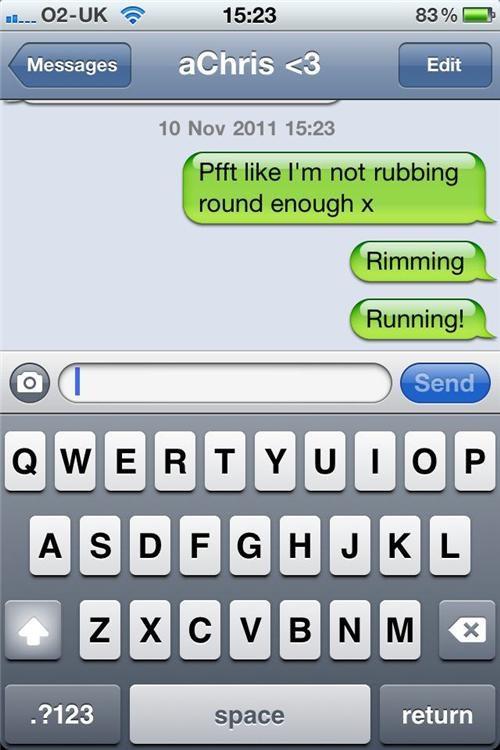 auto correct autocorrect rimming rubbing running - 5418783744