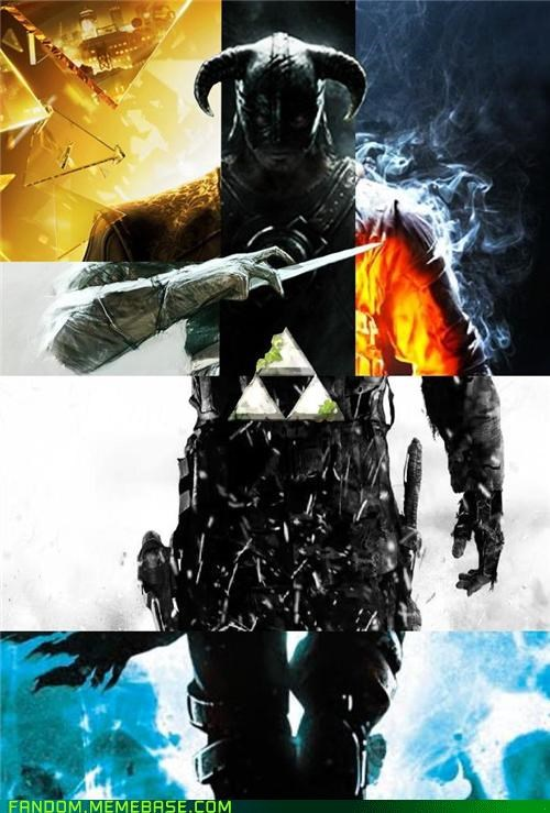 assassins-creed-revelations Battlefield 3 cod-mw3 dark souls deus ex Skyrim Skyward Sword video games - 5418919168