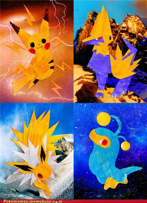 art awesome electric fandom paper art papercraft pikachu - 5419134720