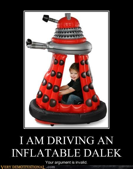 dalek,hilarious,inflatable,kid