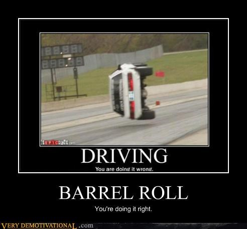 barrel roll car doing it right hilarious - 5419216128