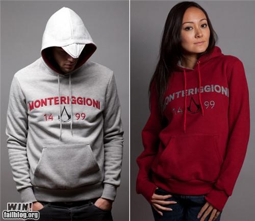 assassins creed clever fashion hoodie nerdgasm sweatshirt video game - 5419315712