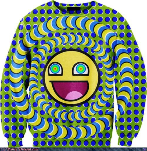 cant-stop-staring Hall of Fame optical illusions sweater - 5419335936