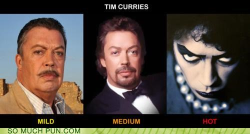 curry,degree,double meaning,Hall of Fame,literalism,name,spiciness,spicy,surname,tim curry,variety