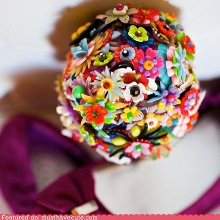 ball,bouquet,colorful,craft,flowers,plastic,toys
