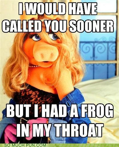 double entendre double meaning excuse frog gross Hall of Fame innuendo kermit miss piggy muppet pervy reason the muppets throat - 5419502592
