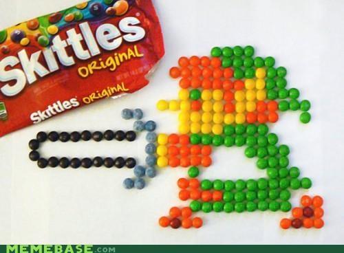 Fan Art legend of zelda link skittles - 5419531264