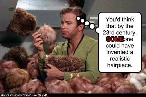 Captain Kirk hairpiece Shatnerday Star Trek tribbles William Shatner