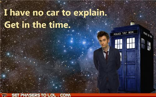 car,David Tennant,doctor who,no time to explain,tardis,the doctor,time