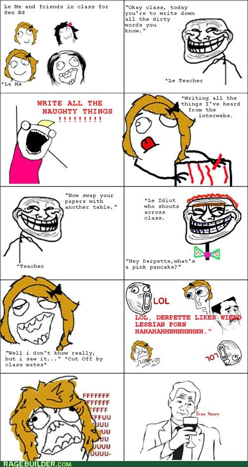 naughty things Rage Comics school words - 5419690752