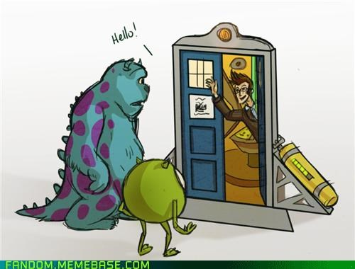 cute,doctor who,Fan Art,monsters inc,movies