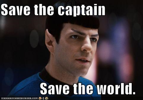 captain,heroes,save the cheerleader save the world,Spock,Star Trek,Zachary Quinto