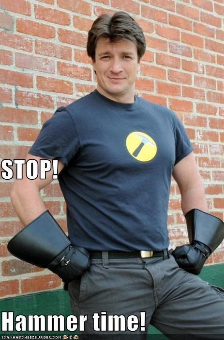captain hammer,doctor horrible,dr horrible,hammertime,mc hammer,nathan fillion