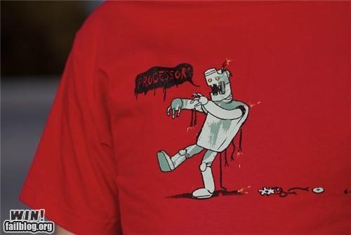 brains computer design nerdgasm robot shirt technology zombie - 5420057600
