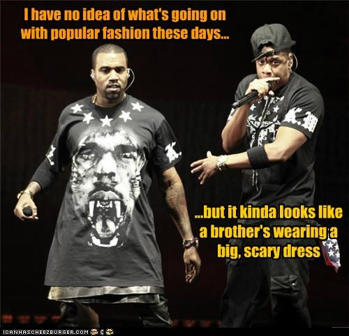 dresses fashion Jay Z kanye west live music rappers wtf - 5420147200