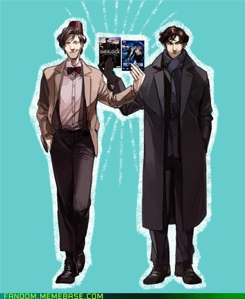 11th Doctor doctor who Fan Art Matt Smith sherlock holmes - 5420203776