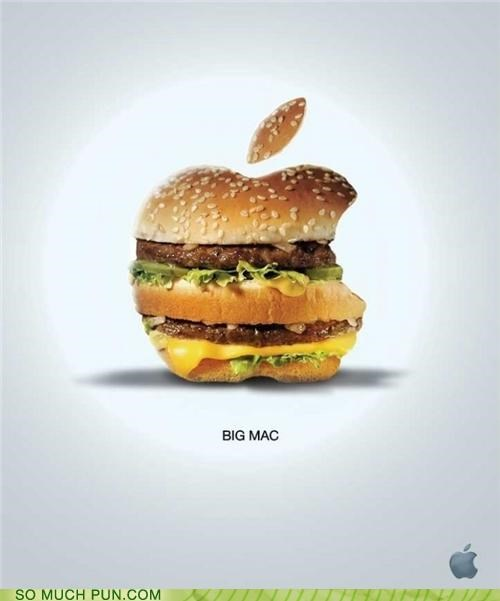apple,big mac,burger,double meaning,Hall of Fame,logo,mac,McDonald's,shape