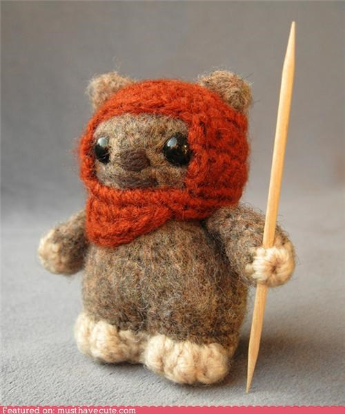 Amigurumi best of the week ewok furry hood star wars toothpick - 5420233984