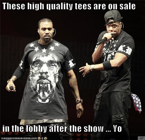 clothing dresses fashion Jay Z kanye west live music merchandise rappers shirts wtf - 5420339712