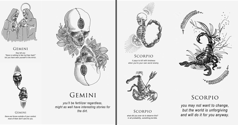Dark astrology, kickstarter, amrit brar, shitty horoscopes, astrology.