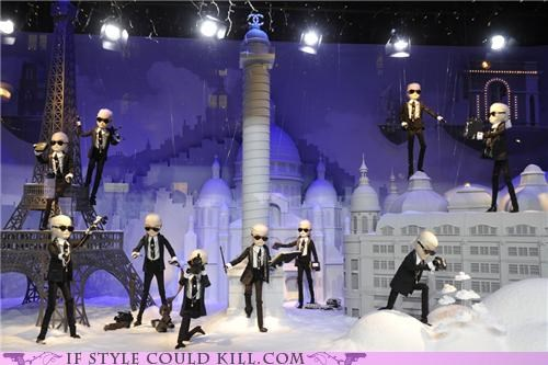 chanel christmas cool acessories Karl Lagerfeld paris window display - 5420581376