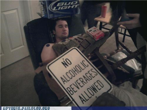 chair cut off drinking drunk passed out sign - 5420623616