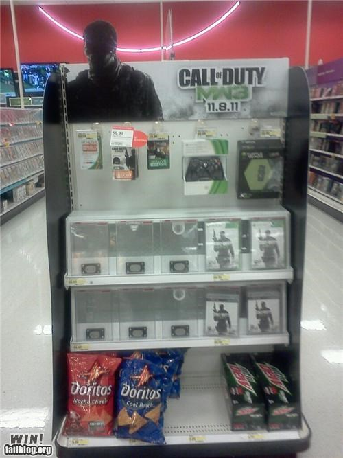 display,food,Modern Warfare 3,mw3,nerdgasm,snacks,store,video games