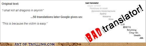 Bad Translator dragons Skyrim video games - 5420755456