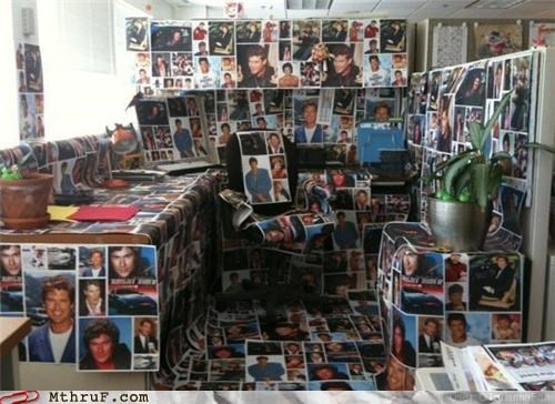covered david hasselhoff office prank picture prank - 5420845824