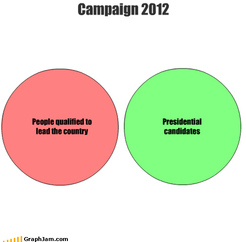 People qualified to lead the country Presidential candidates Campaign 2012