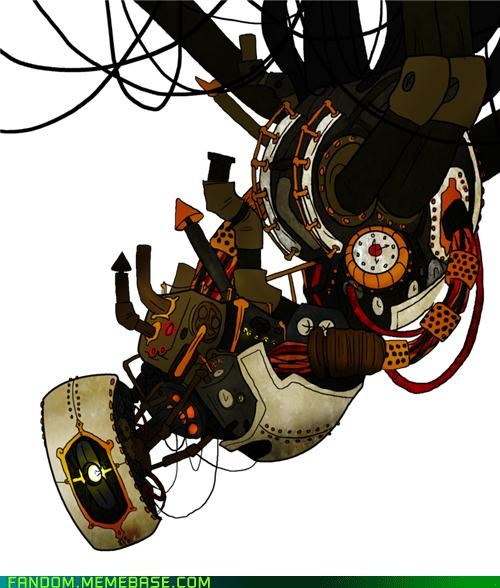 Fan Art gladOS Portal Steampunk video games - 5421578752