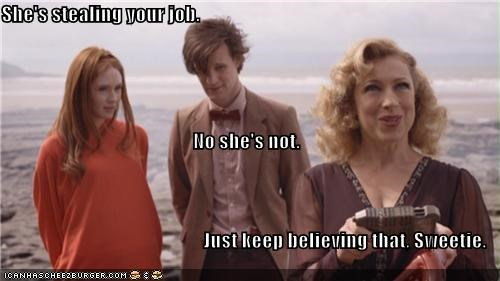 alex kingston,amy pond,doctor who,karen gillan,Matt Smith,River Song,the doctor